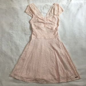 Abercrombie & Fitch xs cute blush pink lace style